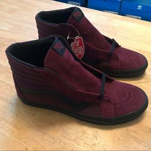 Vans Sk8-Hi Maroon Metallic Shoes Mens 13